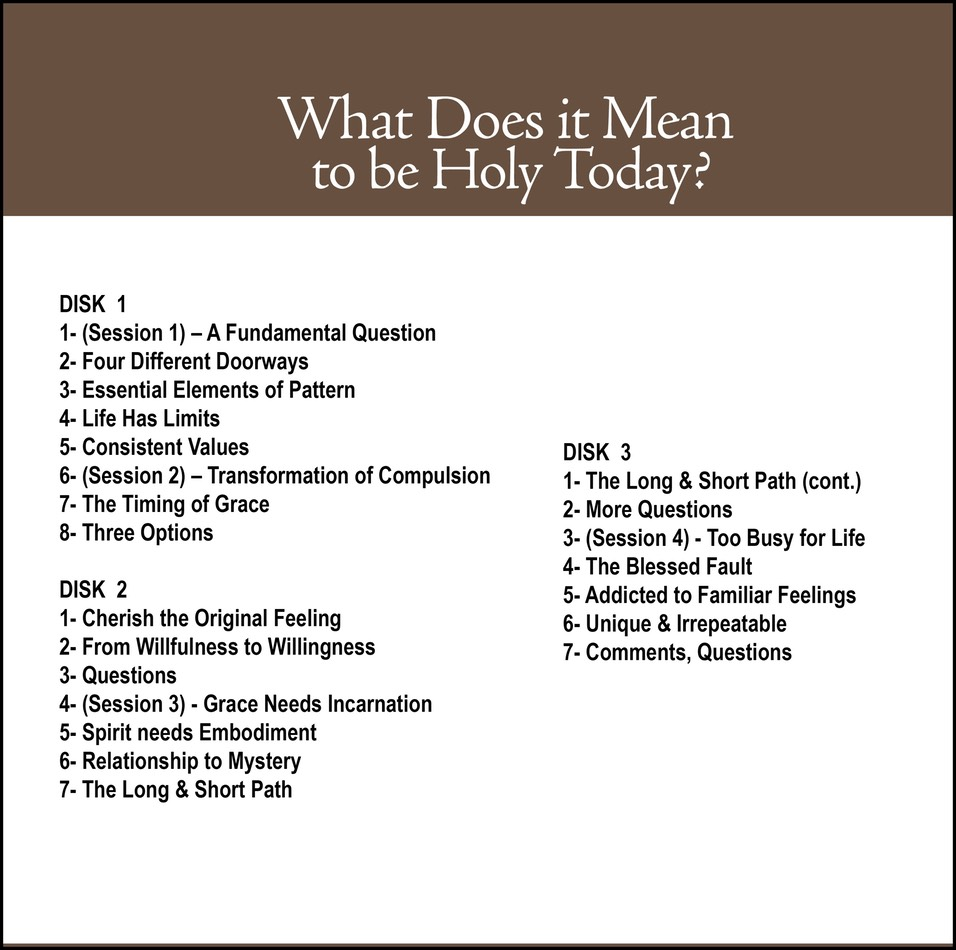 What Does It Mean To Be Holy Today Cd25 Don Bisson Featuring
