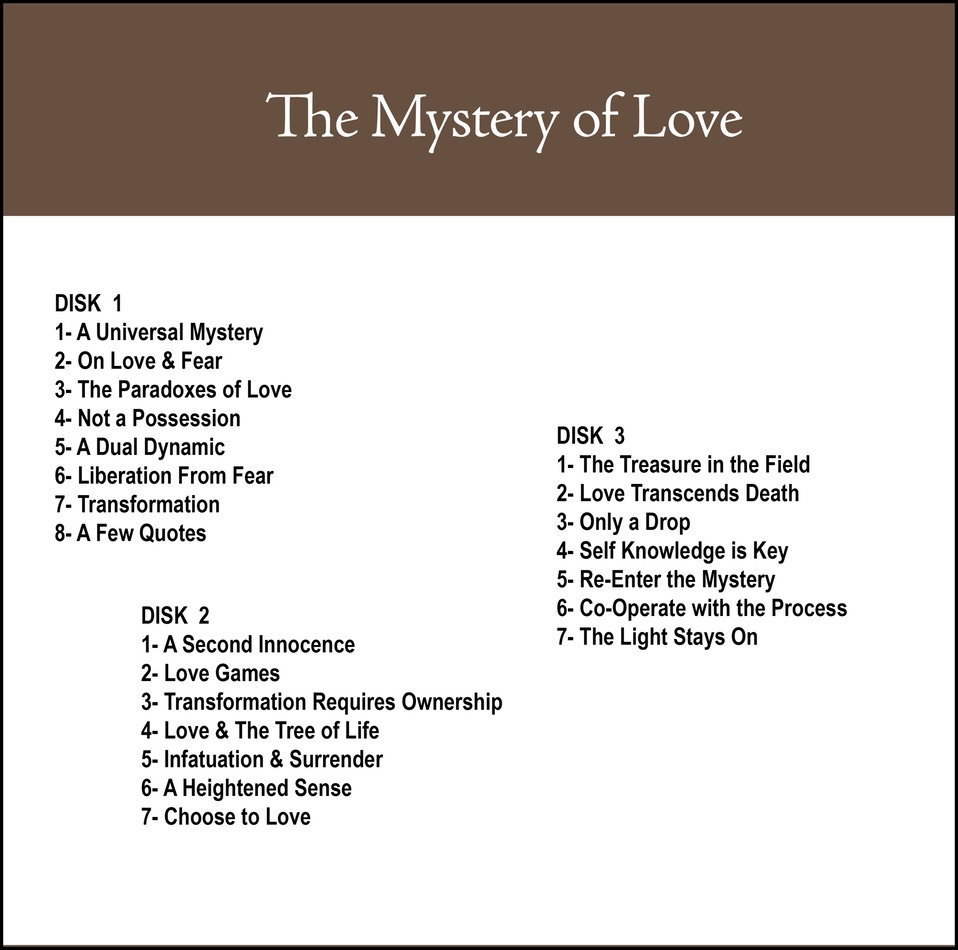 Love Choices Quotes The Mystery Of Love Cd33  Don Bisson Featuring Jungian